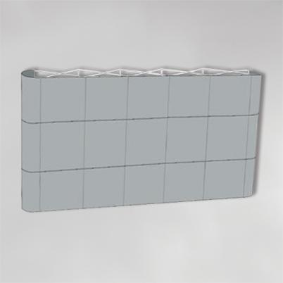 Structure pour mur d'image droit 5x3 PVC