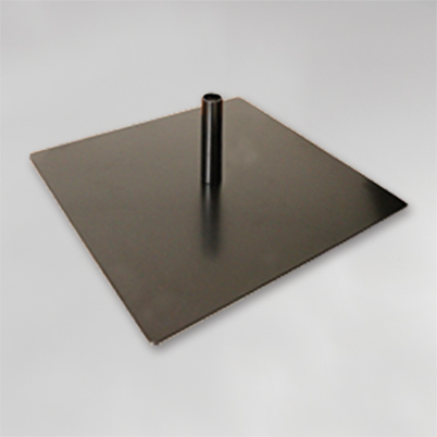 Type d'embase : métallique plate
