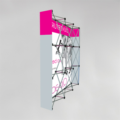 Vue de dos, mur d'image droit 4x3 imprimé textile
