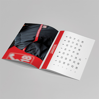 Calendrier agraf� ouvert