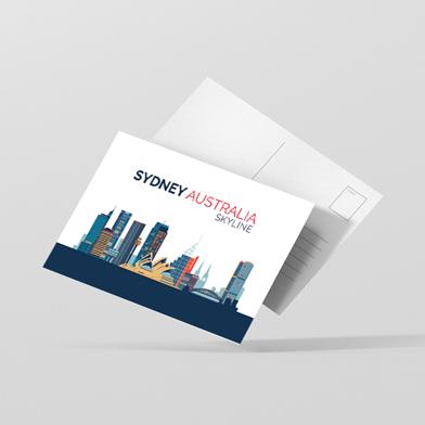Carte Postale Imprime Recto Verso