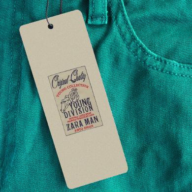 Impression étiquette carton vêtement