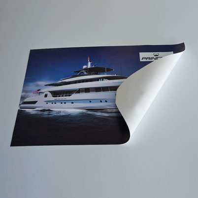 Impression Autocollant repositionable polypro. grand format blanc yupo tako®