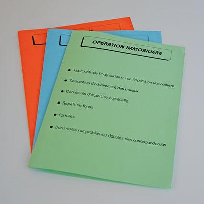 Impression pochette administrative (ou dossier)