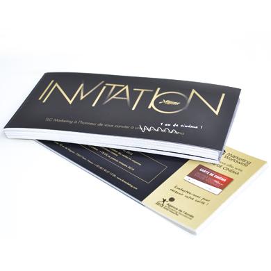 Imprimée en ligne carte d'invitation