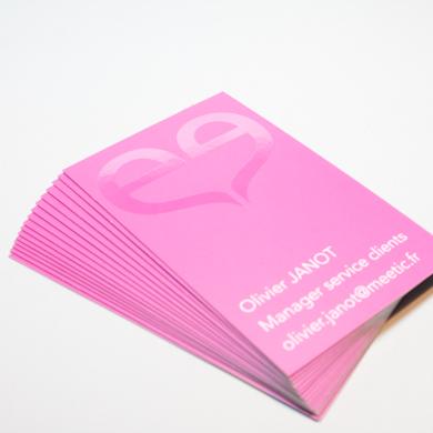 Lot de carte de visite avec vernis sélectif verso