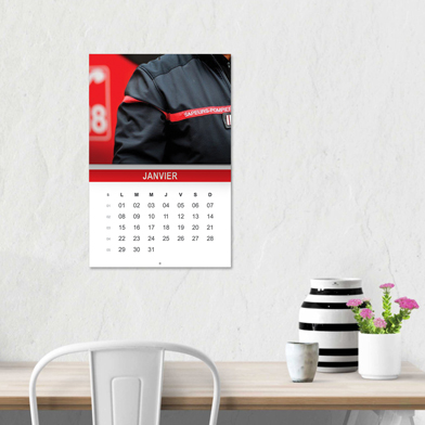 Calendrier agraf� en situation