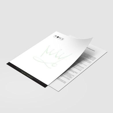 Papier en-t�te imprim� recto / verso