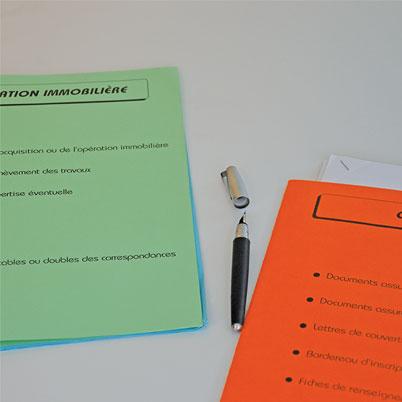 Pochette administrative imprimée (ou dossier)