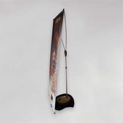 Vue en 3/4, banner extérieur imprimé
