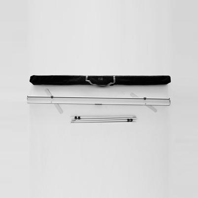 Vue de haut, contenu du sac roll'up imprimé 200x300