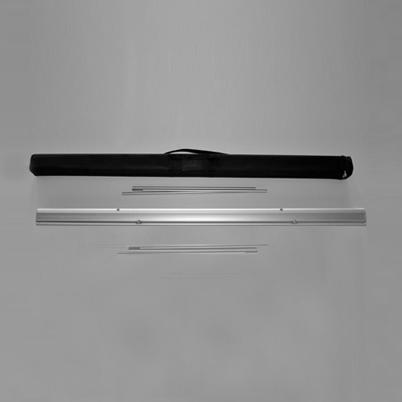 Vue de haut, contenu du sac roll'up imprimé 240x200