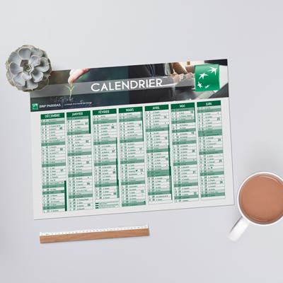 Calendrier carton
