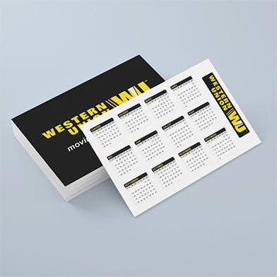 Calendrier carte de visite
