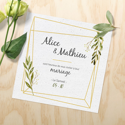 Impression invitation ensemencé
